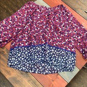 Liz Claiborne Sheer Multi-Colored Blouse